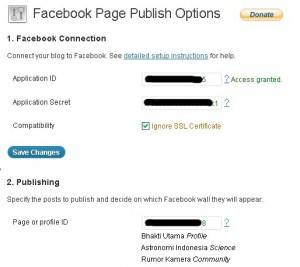 Facebook Page Publish