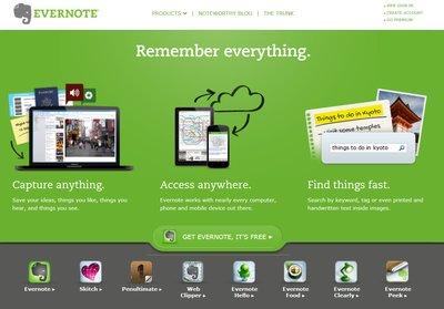 Evernote, sangat lengkap dan kompleks