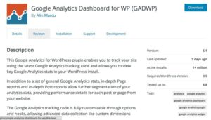 Plugin Google Analytics for WP
